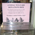 waitakere animal welfare fund collection box