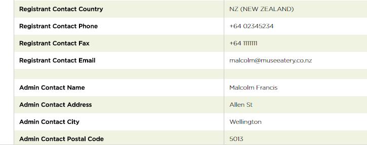 domain name museonallen.co.nz