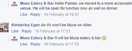 it will be muse eatery