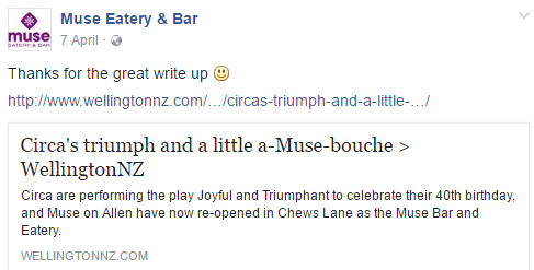 muse on allen have now re opened in chews lane